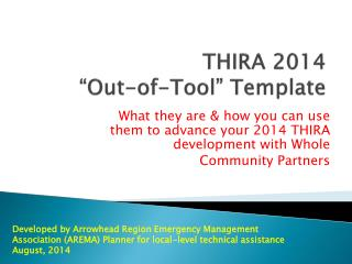 "THIRA 2014  ""Out-of-Tool"" Template"