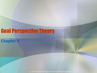 Goal Perspective Theory