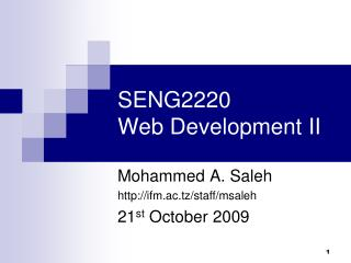 SENG2220 Web Development II
