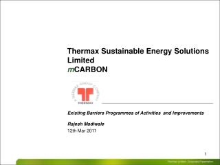 Thermax Sustainable Energy Solutions Limited m CARBON