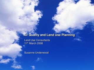 Air Quality and Land Use Planning