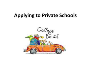 Applying to Private Schools