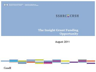 The Insight Grant Funding Opportunity