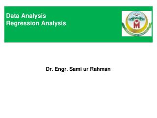 Data Analysis Regression Analysis