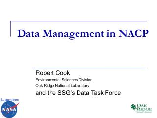 Data Management in NACP