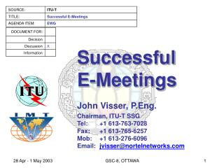 Successful E-Meetings