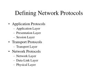 Defining Network Protocols