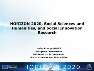 HORIZON 2020, Social Sciences and Humanities, and Social Innovation Research