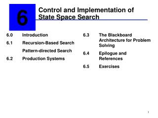 Control and Implementation of State Space Search