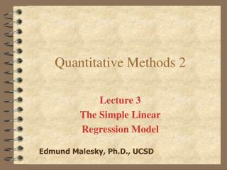 Quantitative Methods 2