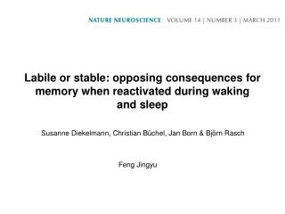 Labile or stable: opposing consequences for memory when reactivated during waking and sleep