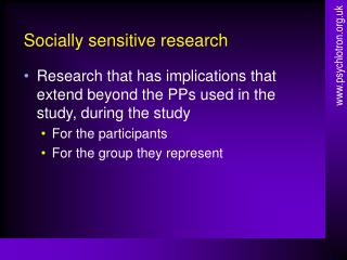 Socially sensitive research