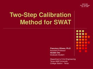 Two-Step Calibration Method for SWAT