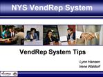 NYS VendRep System