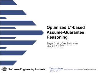 Optimized L*-based Assume-Guarantee Reasoning