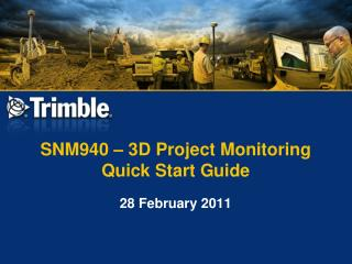 SNM940 – 3D Project Monitoring Quick Start Guide