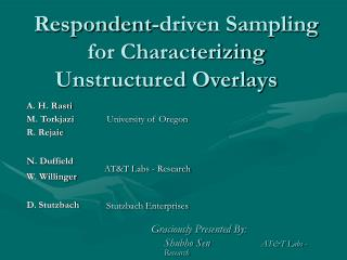 Respondent-driven Sampling for Characterizing Unstructured Overlays