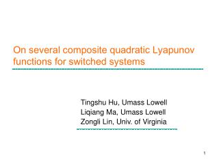 On several composite quadratic Lyapunov functions for switched systems