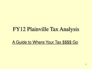 FY12 Plainville Tax Analysis