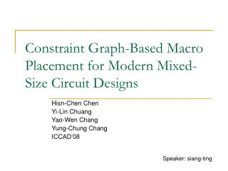 Constraint Graph-Based Macro Placement for Modern Mixed-Size Circuit Designs