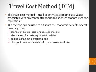 Travel Cost Method (TCM)