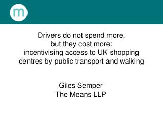 Giles Semper The Means LLP