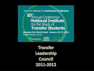Transfer Leadership Council 2011-2012