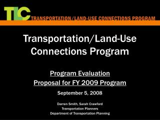 Transportation/Land-Use Connections Program