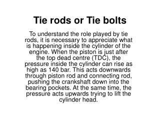 Tie rods or Tie bolts