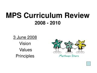 MPS Curriculum Review 2008 - 2010