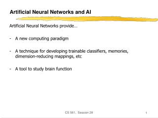Artificial Neural Networks and AI