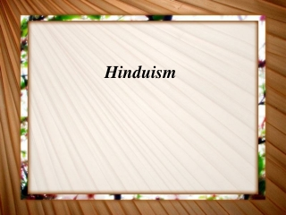 HINDUISM:  ONE GOD