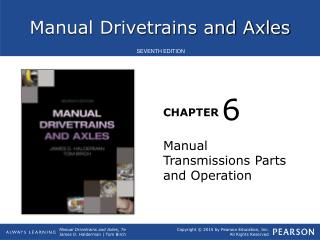 Manual Transmissions Parts and Operation