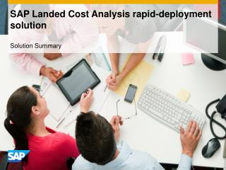 SAP Landed Cost Analysis rapid-deployment solution
