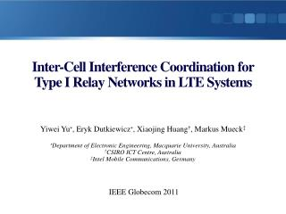 Inter-Cell Interference Coordination for Type  I Relay  Networks in  LTE  Systems