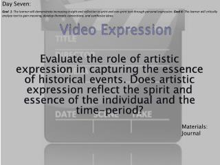 Video Expression