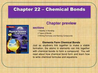 Chapter 22 – Chemical Bonds