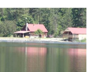Horseshoe Lake offers an old homestead log house with a lot of interesting history .