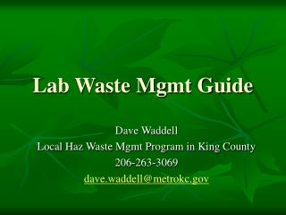 Lab Waste Mgmt Guide