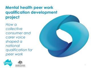 Mental health peer work qualification development  project