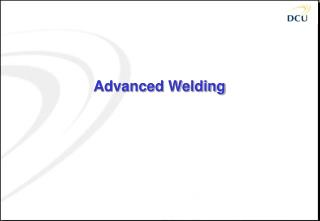 Advanced Welding