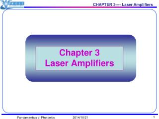 Chapter 3 Laser Amplifiers