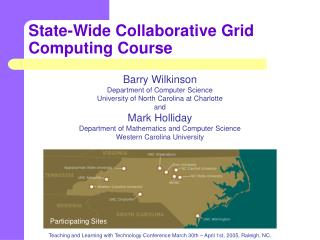 State-Wide Collaborative Grid Computing Course