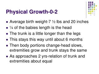 Physical Growth-0-2