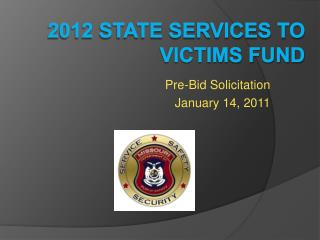 2012 State Services to Victims Fund