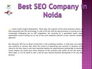 Best SEO company in Noida