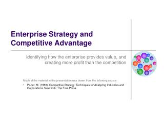 Enterprise Strategy and Competitive Advantage