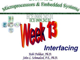 DIGITAL II Microprocessors  Embedded Systems