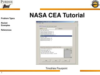 NASA CEA Tutorial
