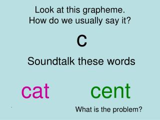 Look at this grapheme. How do we usually say it?
